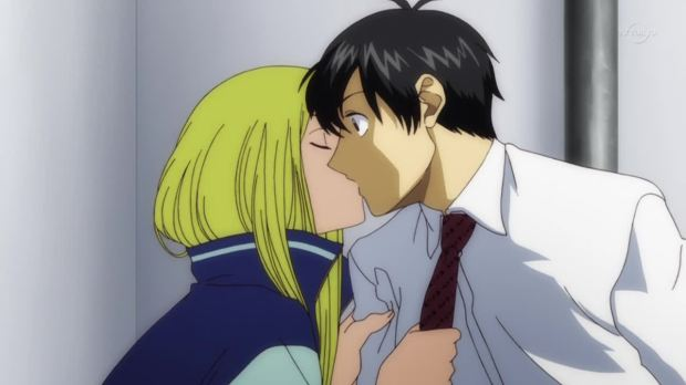 Arakawa Under the Bridge kiss