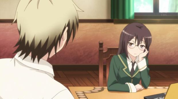 Haganai Rika is disappointed.