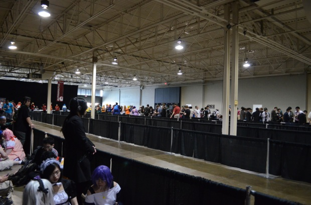 We were in the reserve line. That long line you see in the background is for the autograph session.