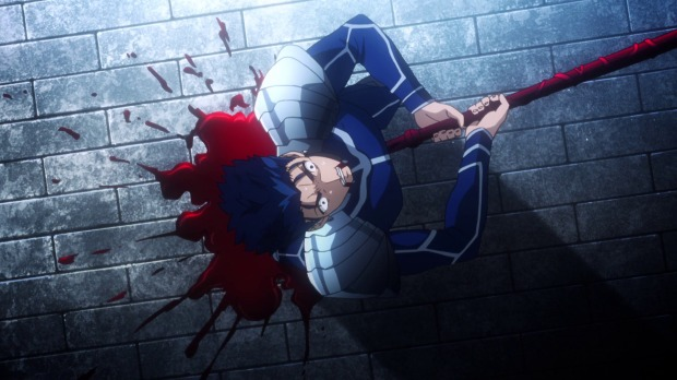 At least this Lancer's forced suicide was nowhere near as dramatic or as painful as Fate Zero's.