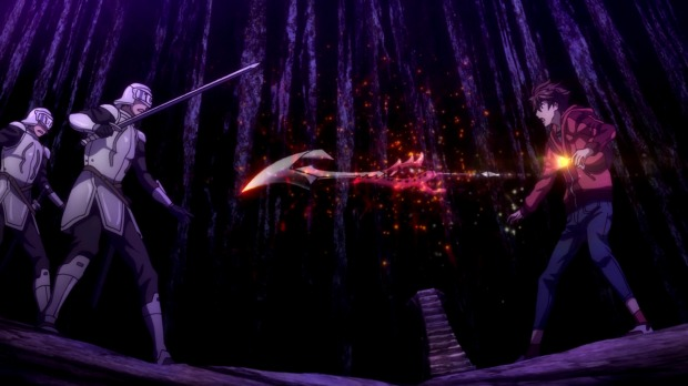 Guilty Crown did the sword in chest thing much better.